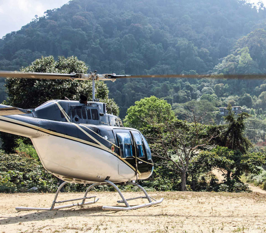 Luxe Reis Helicopter Vlucht Ciudad Perdida Colombia Reis Atacama