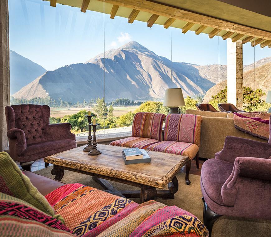 Atacama Peru Reizen Inkaterra Hacienda Urubamba Lobby2