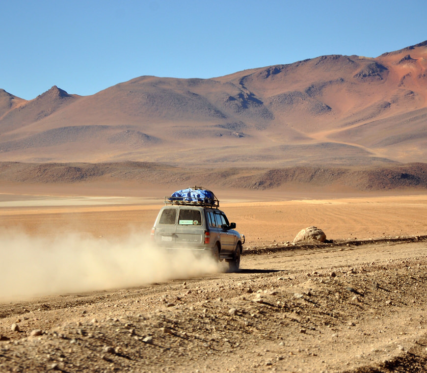 Atacama Bolivie Reizen Jeep