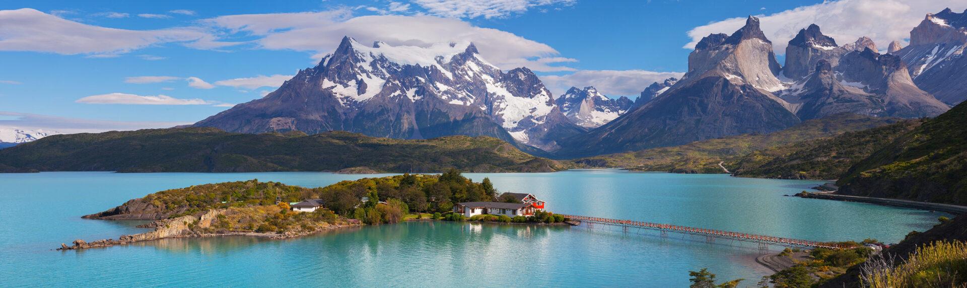Chili Reizen Pano Torres Del Paine Patagonia