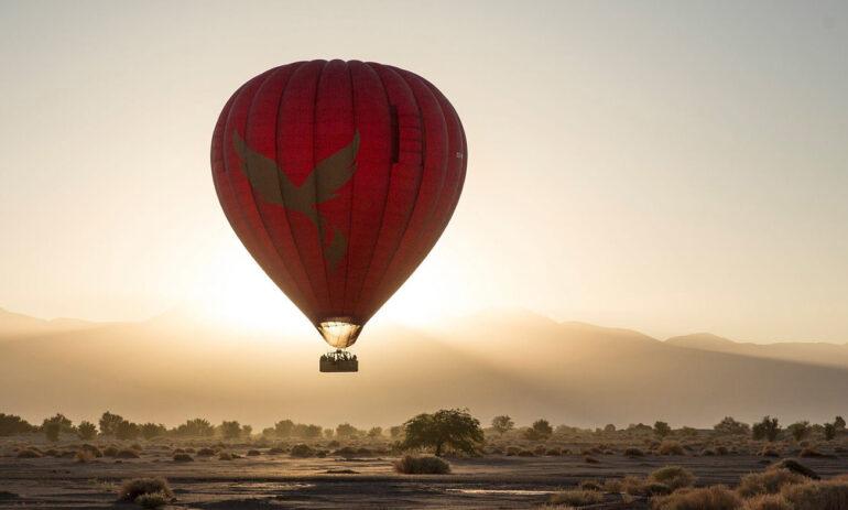 Chili Reizen Atacama Woestijn Luchtballon